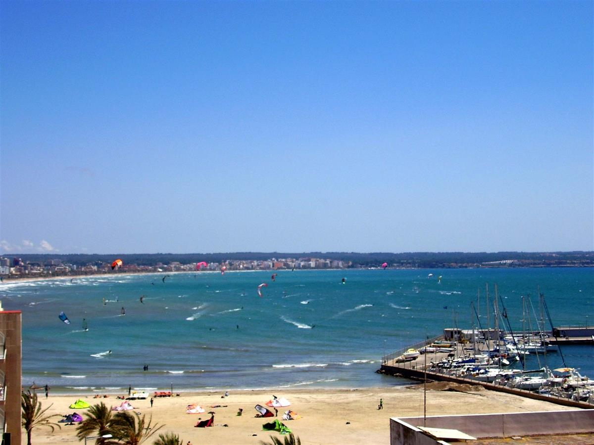 View of Playa de Palma from terrace.