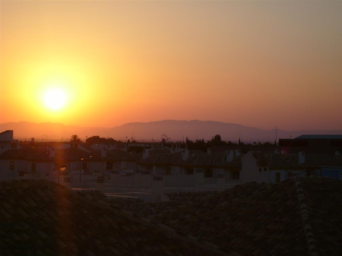 Sunset from the sun terrace