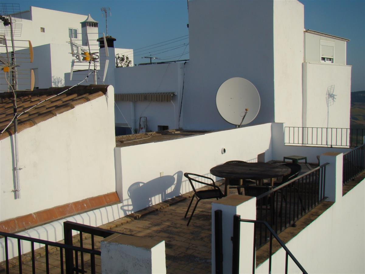 The top roof terrace for breakfast & dinner