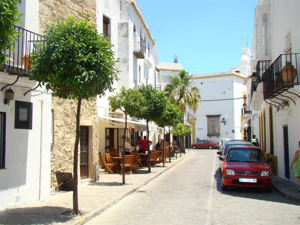 The house is 80m from this central street off the plaza de Espana,