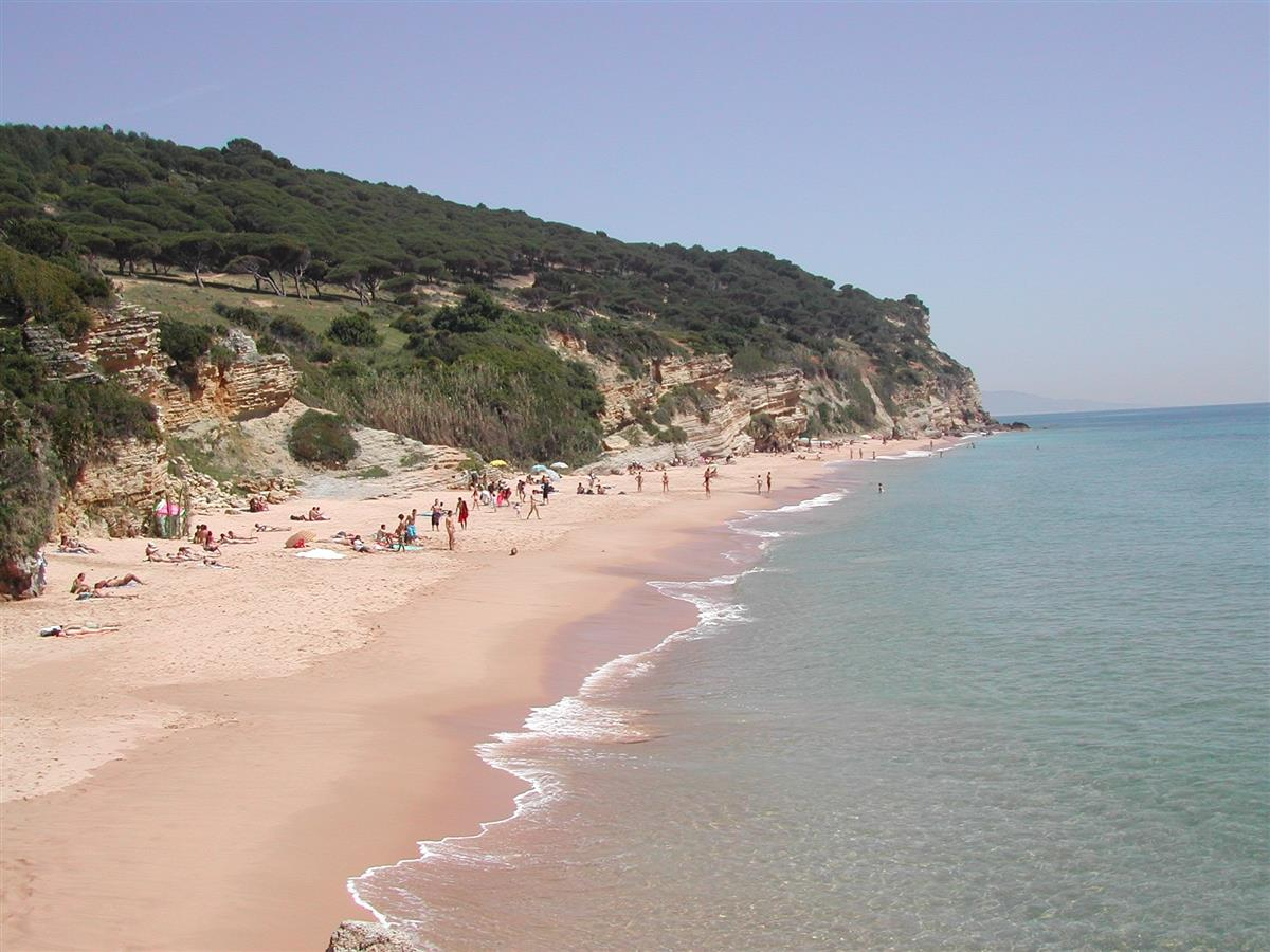 Unspoil beach by the Natural Park in Caños de Meca.