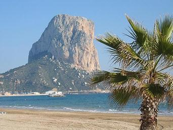 View to the penon. Calpe's famous Rock