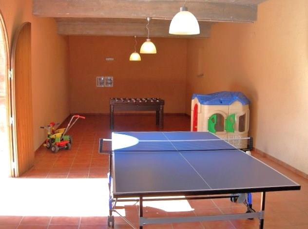 The little game hall with table tennis and table football