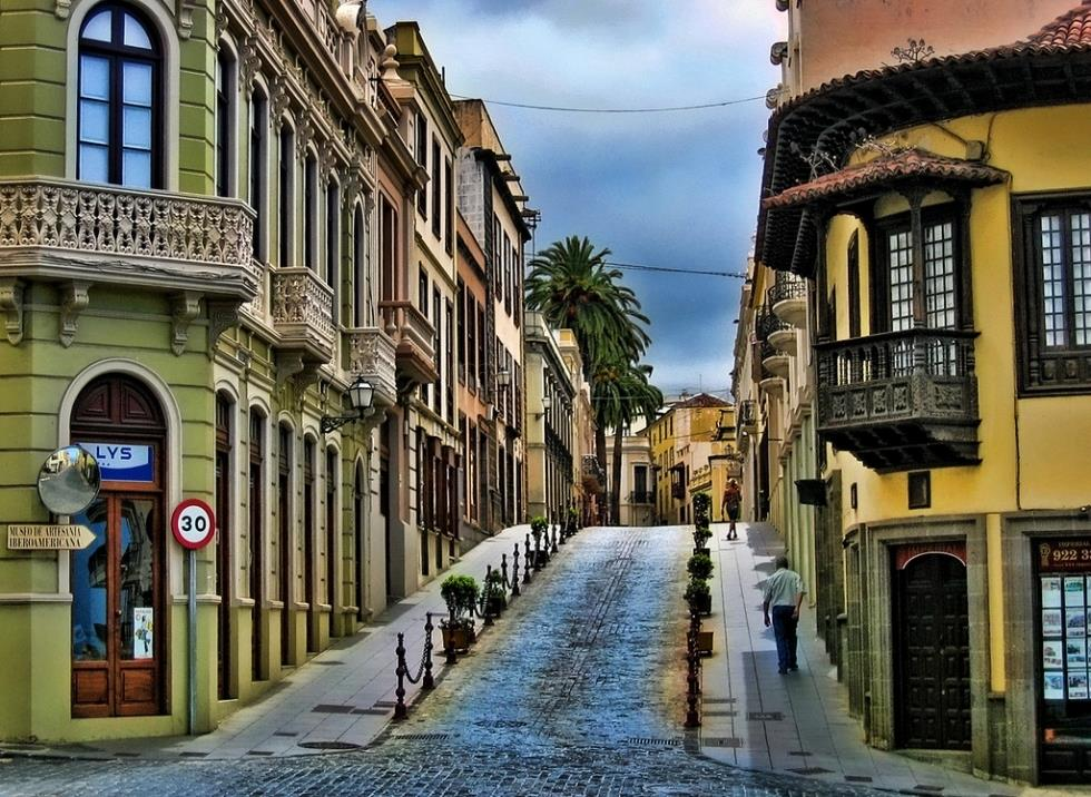 La Orotava: beautiful street