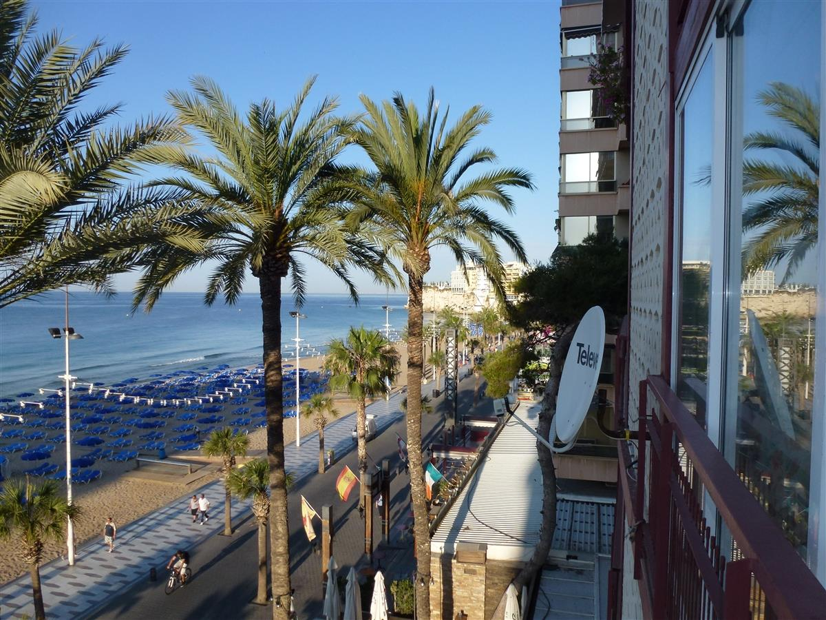 view to old town Benidorm from balcony