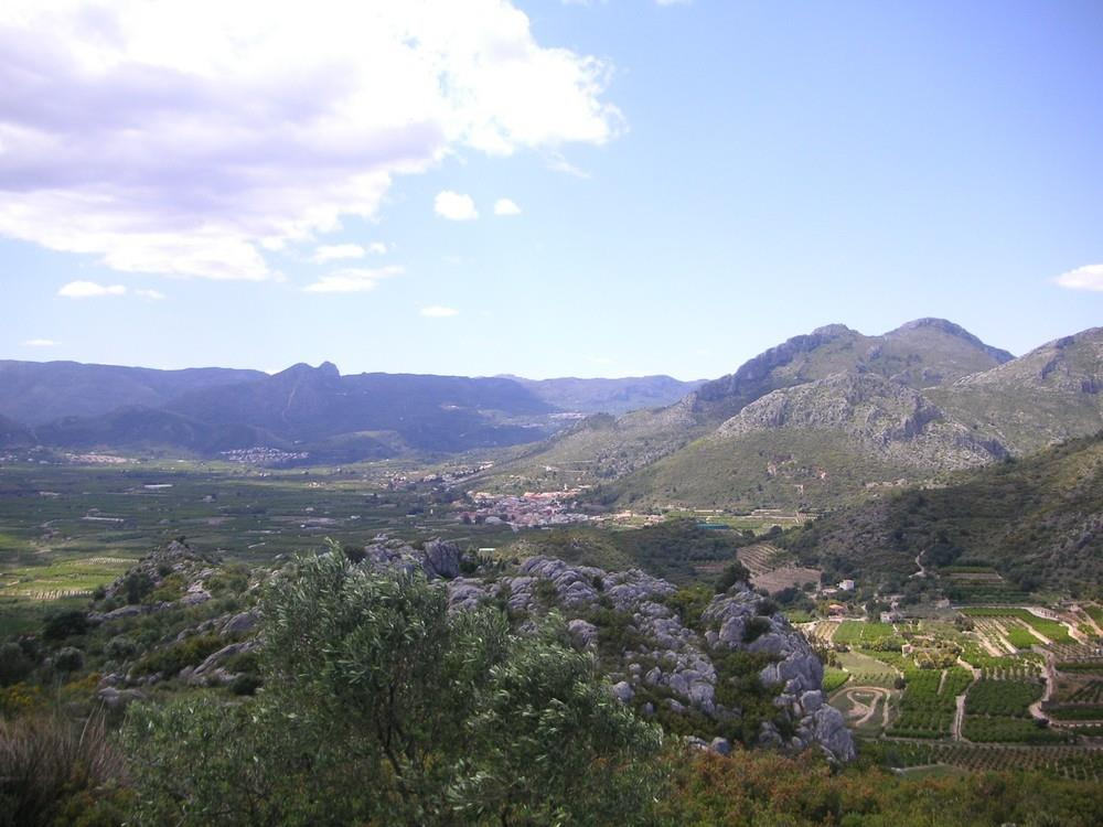 View of the Rectoria valley, Marina Alta, Costa Blanca, Alicante