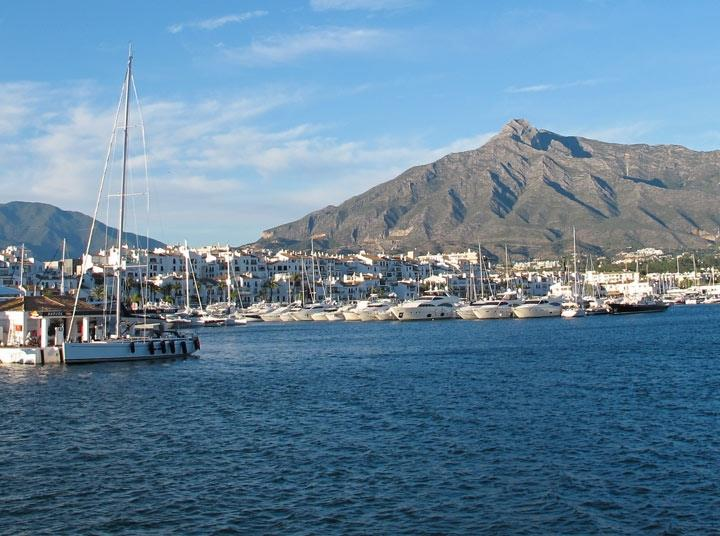 Puerto Banus harbour is about 5-10 minutes drive away