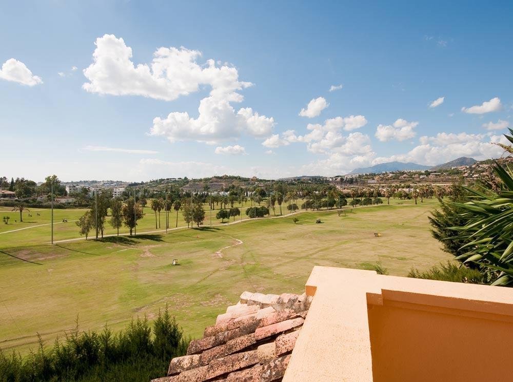 View to Los Naranjos Golf course from master bedroom terrace