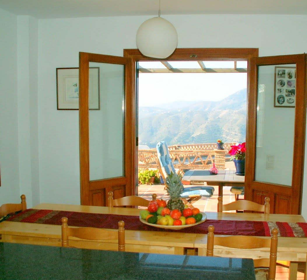 View from the kitchen to the mountains