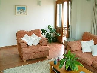 Sitting room with doors to terrace