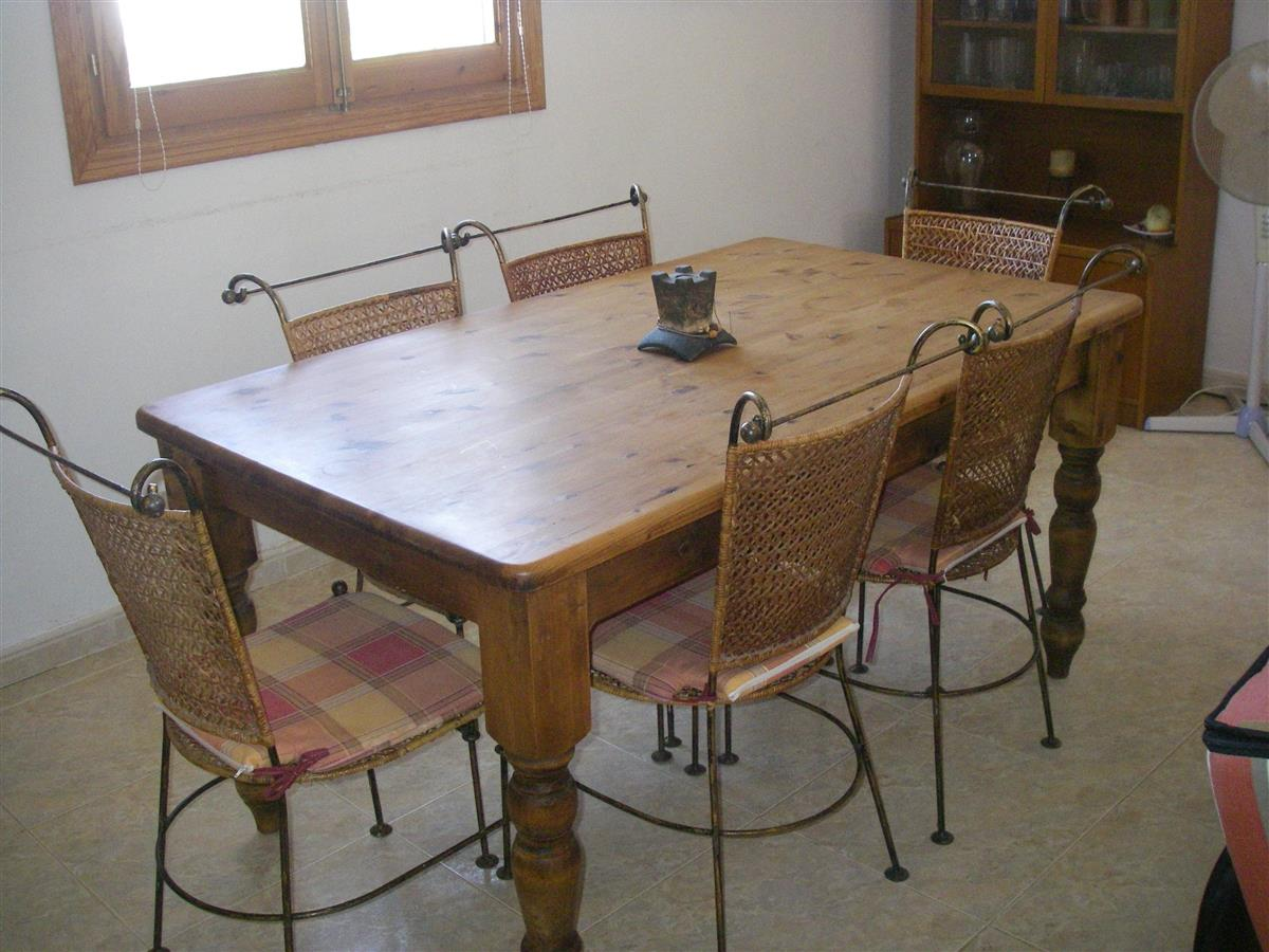 Dining table at end of lounge
