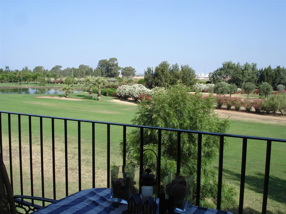 View over the golfcourse and Ayamonte