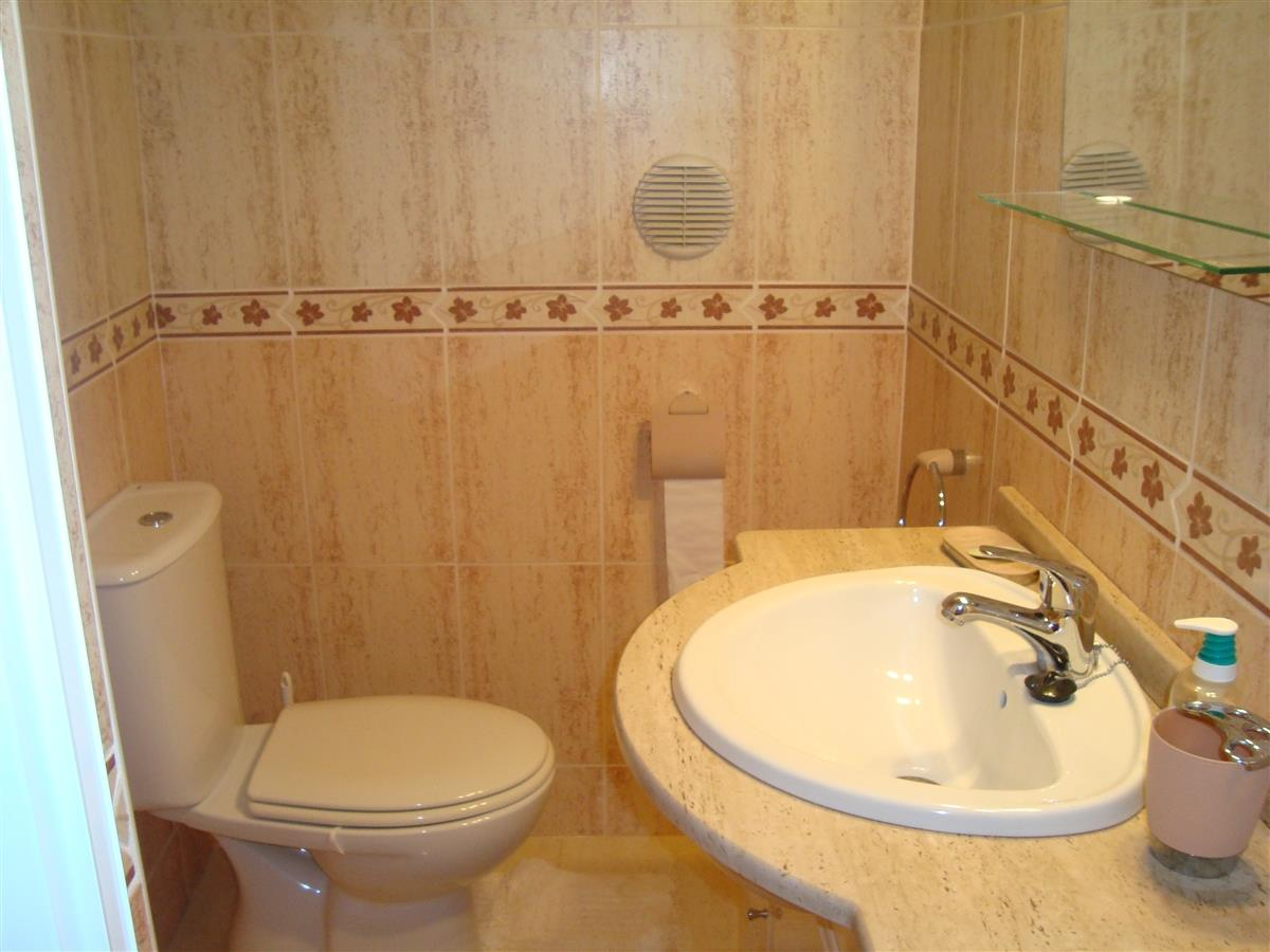 Ground floor toilet and vanity sink