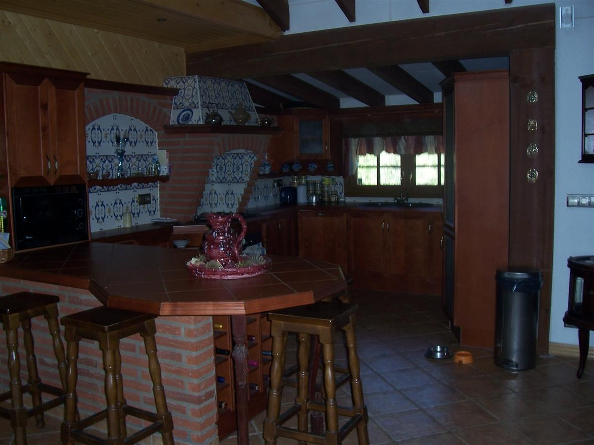 The kitchen in the upstairs main house
