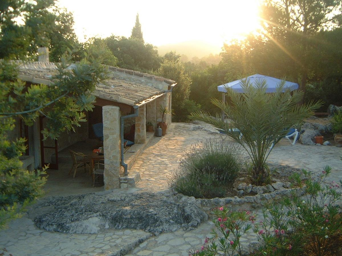 The main terrace at sunrise