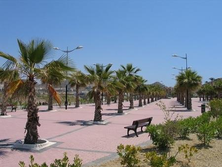 Picturesque beach promenade