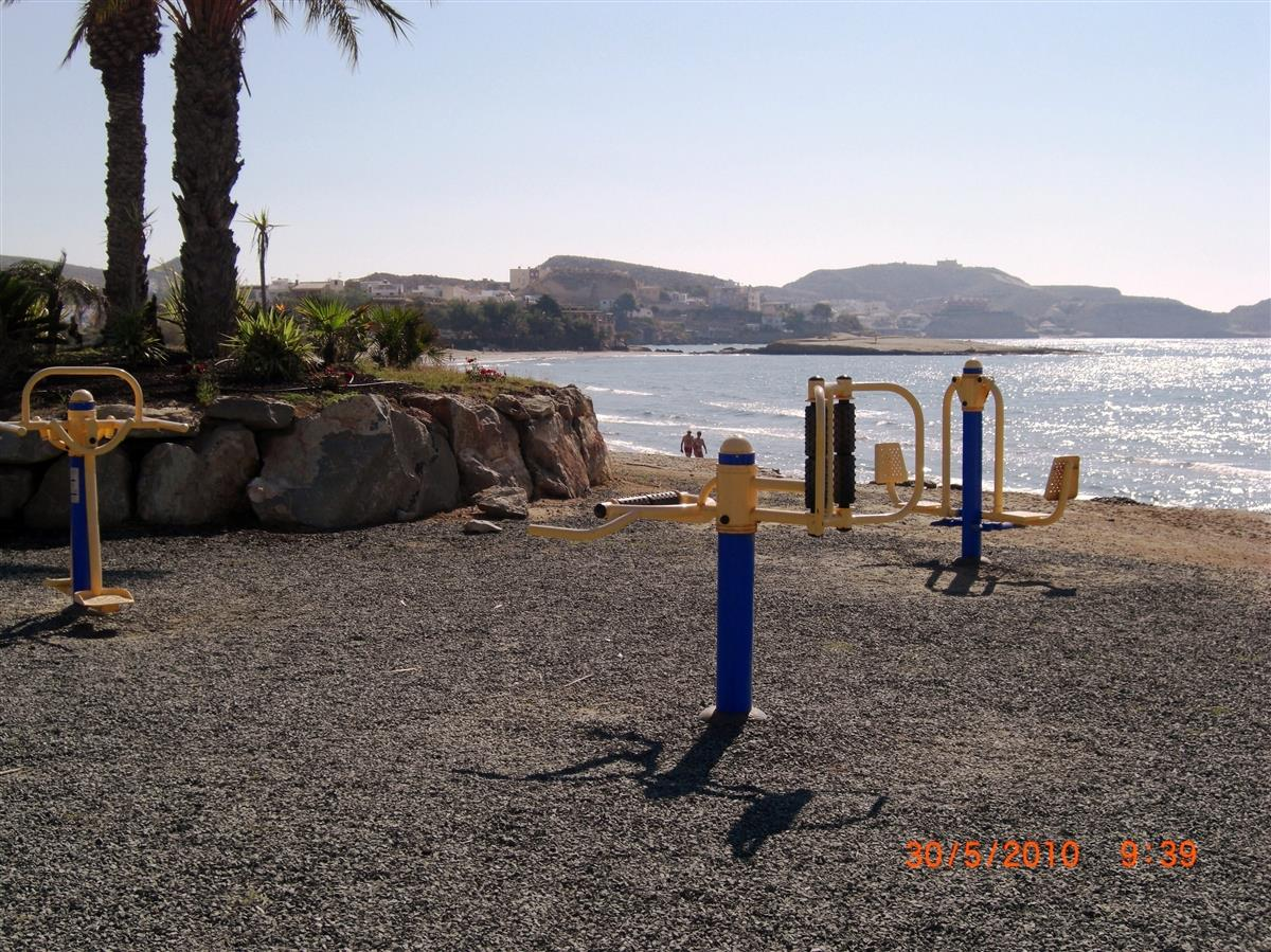 Mini Gym on the beach