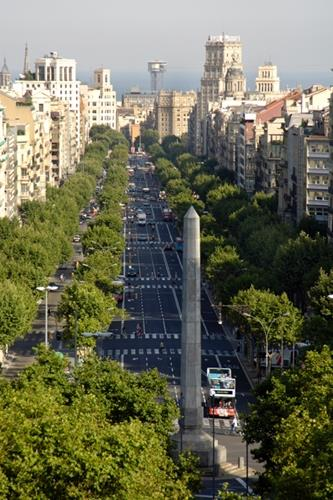 Passeig de Gracia, next to the apartment.