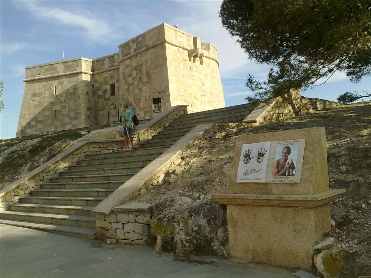 The old castle in Moraira town 4 km away.