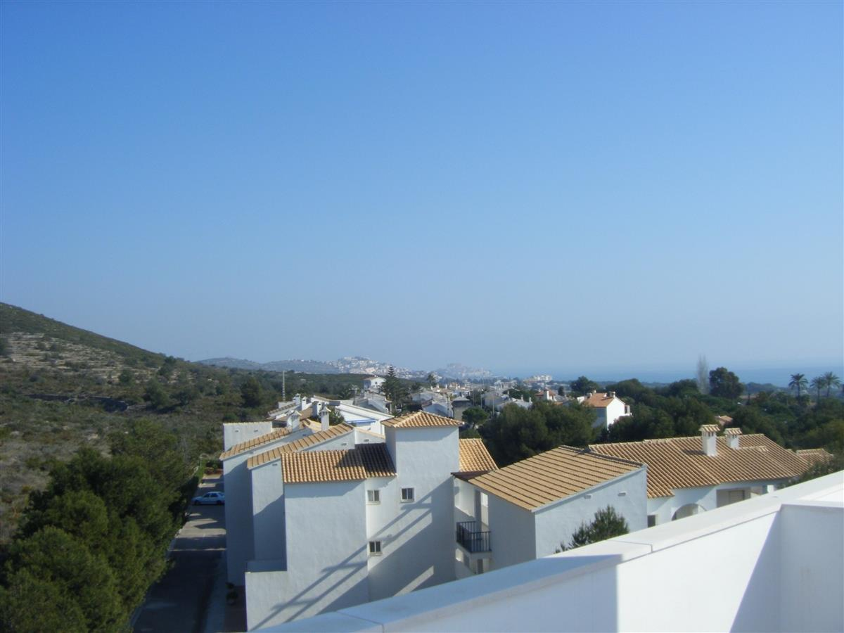 View from Roof Terrace - Peniscola Castle in the distance!