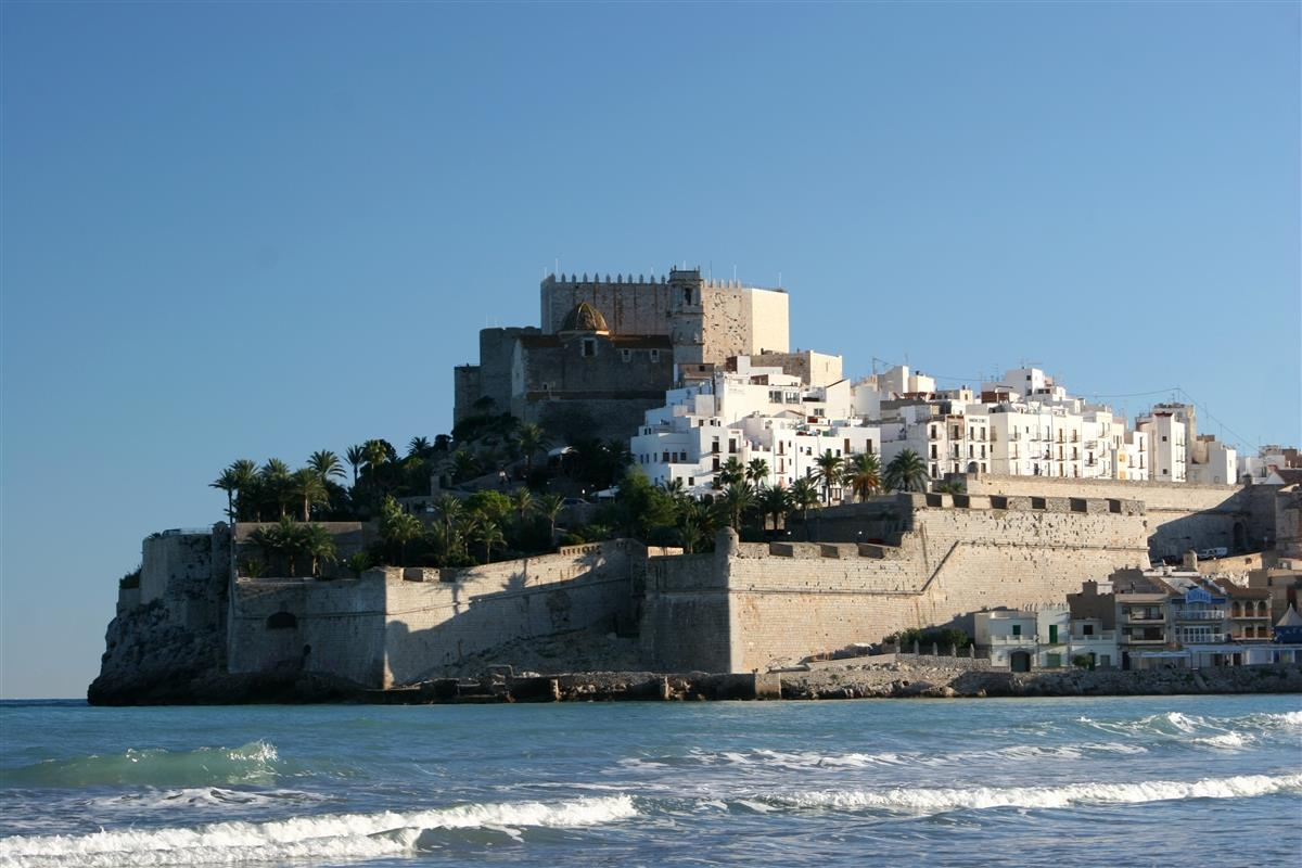 Peniscola Castle and old town.