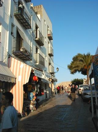Peniscola Cobbled Shopping Street