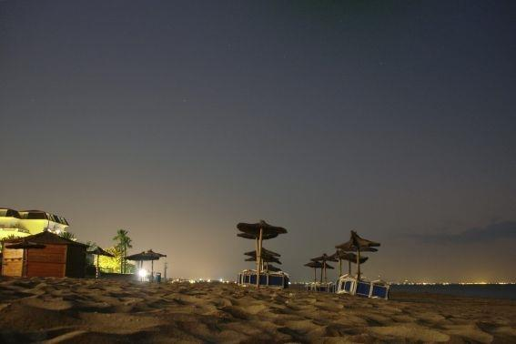 Beach by night