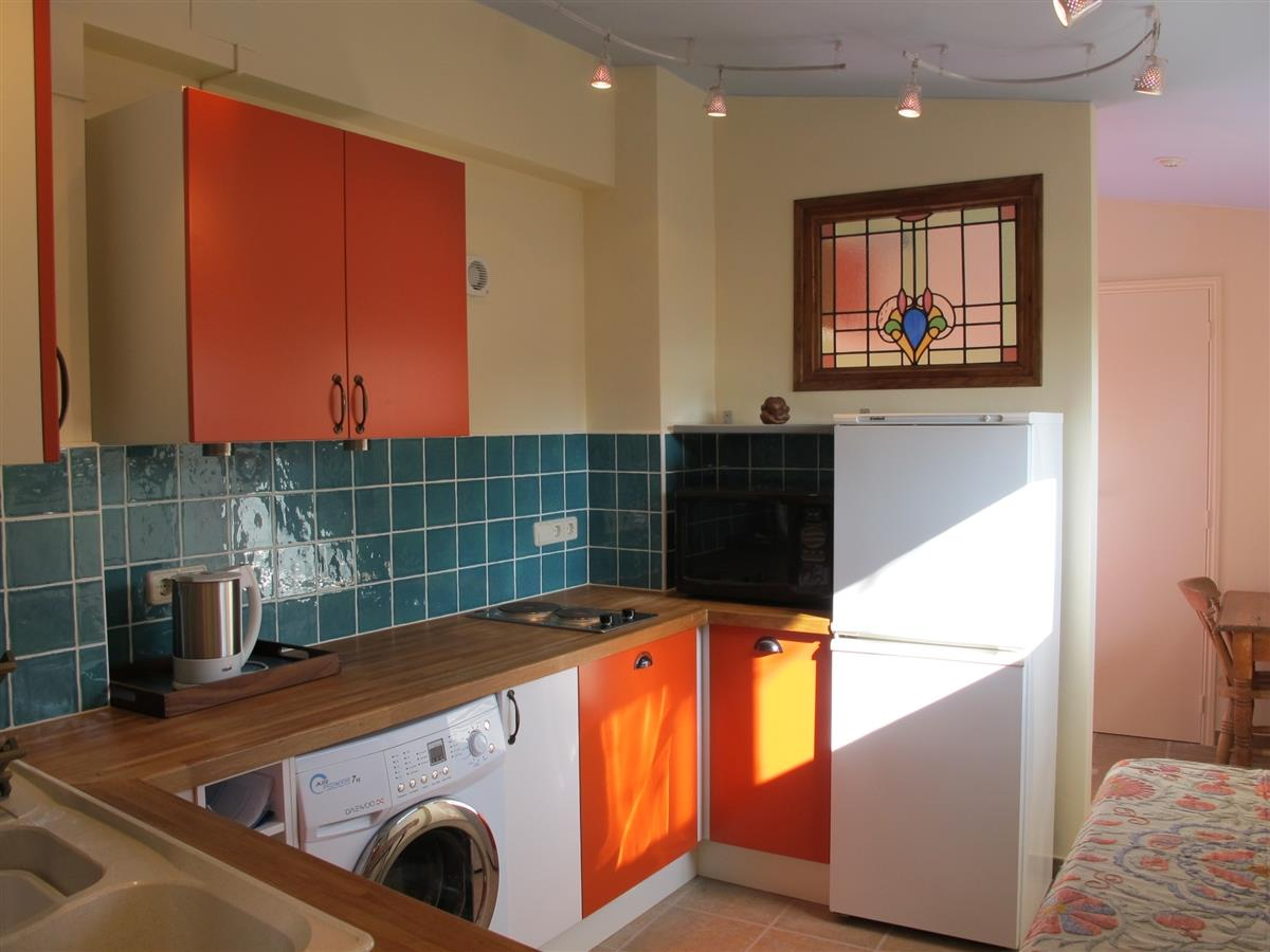Kitchen on ground floor leading to garden