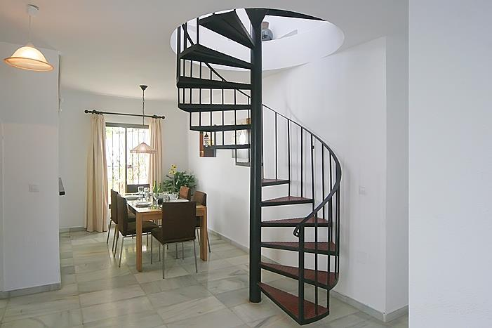 Dining room with staircase