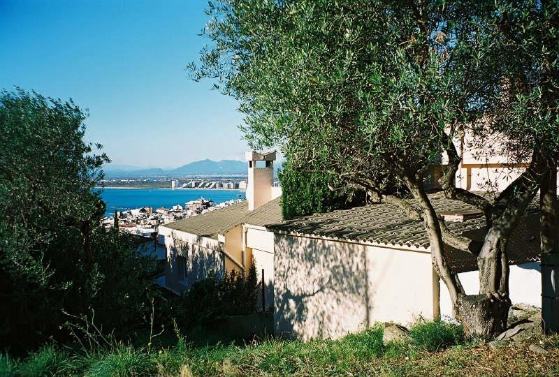 Side view of Villa overlooking the Bay off Roses.