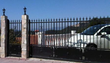 Private parking with gate.