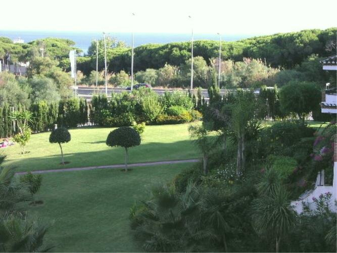 The view from the terrace towards the Mediterranean sea