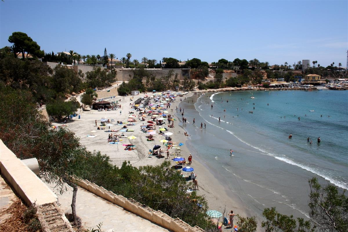 The nearby Cabo Roig beach and marina.