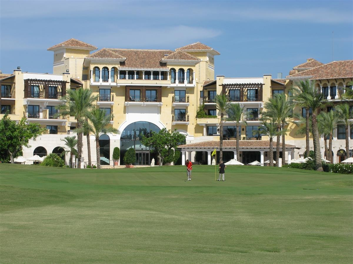 Hotel and golfclub on the resort