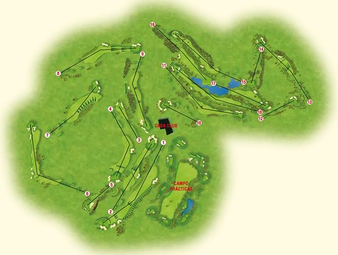 View plan of golf course layout
