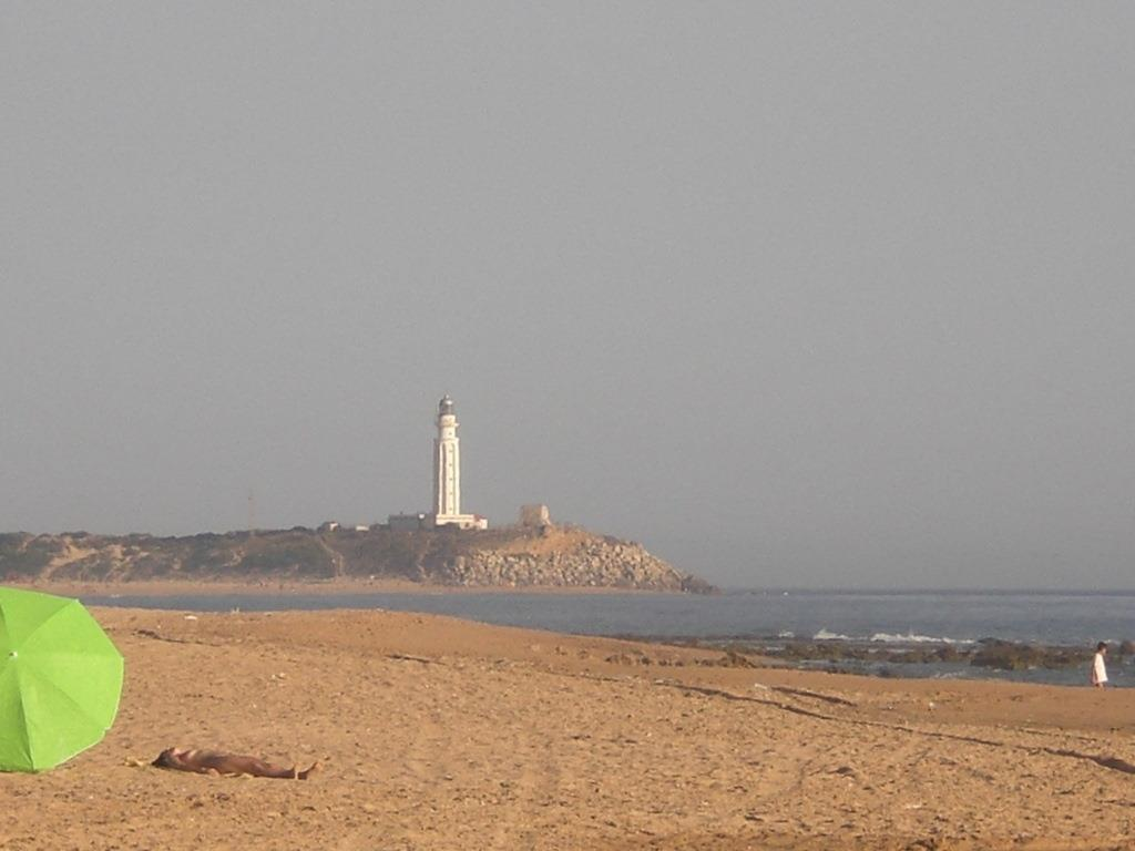 Trafalgar light house is part of the view from Finca Higueron.