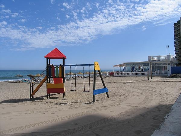 Playground at the beach