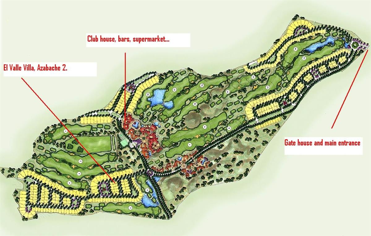 Plan of El Valle Golf Resort