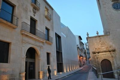 View of Villavieja Street and MACA Museum currently inaugurated
