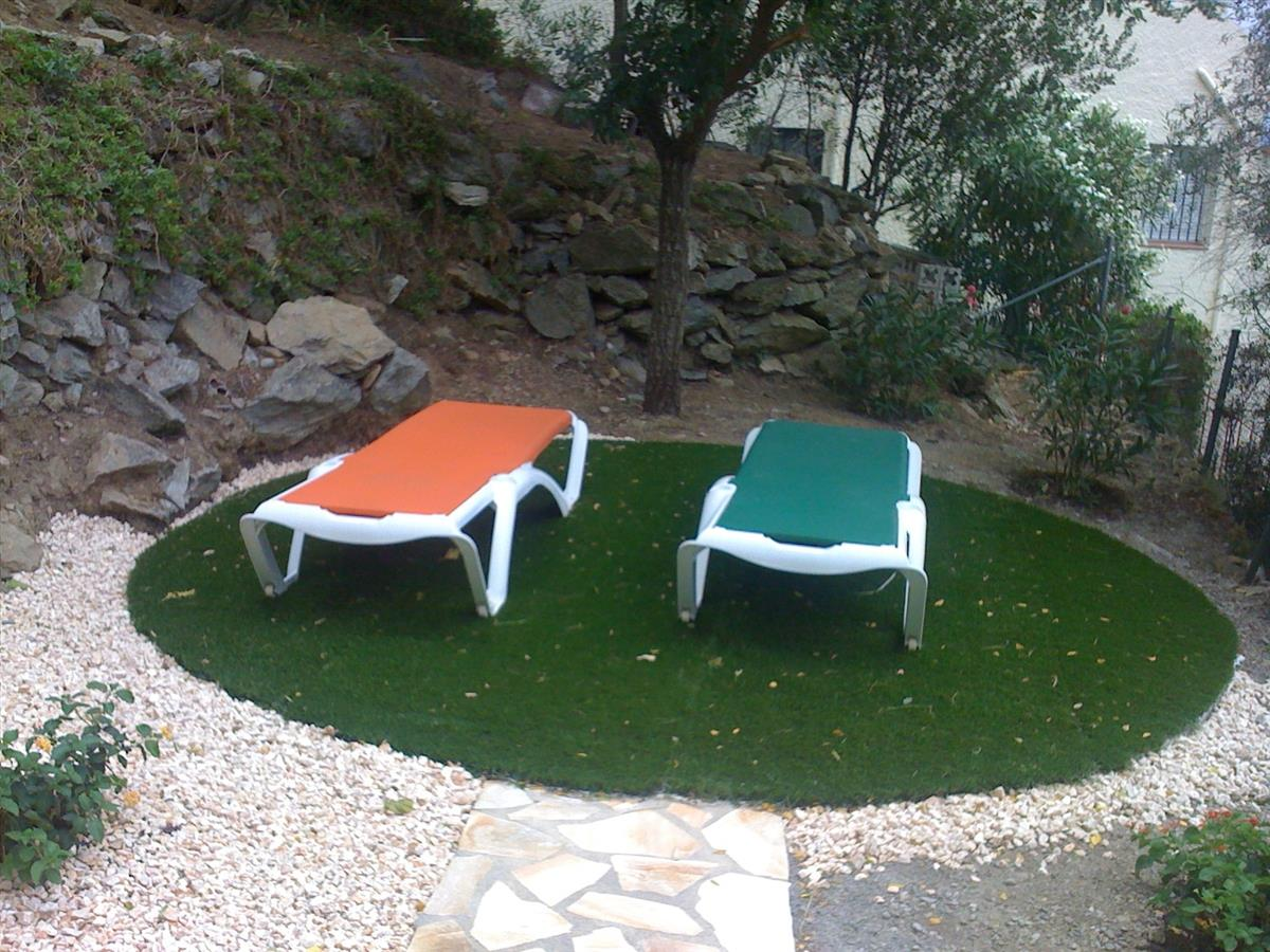 One of the sunbathing areas.