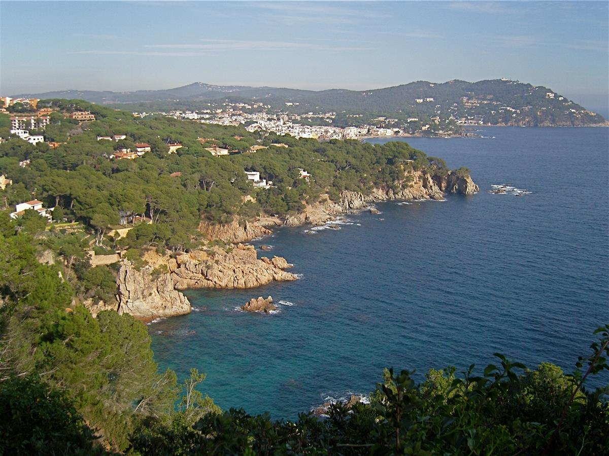 A beautiful part of Costa Brava,seen from the botanic garden.