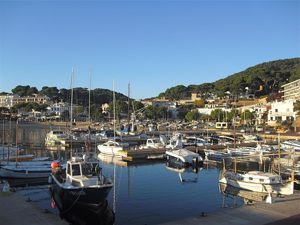 The nautic port of Llafranc, where you can hire a boat.