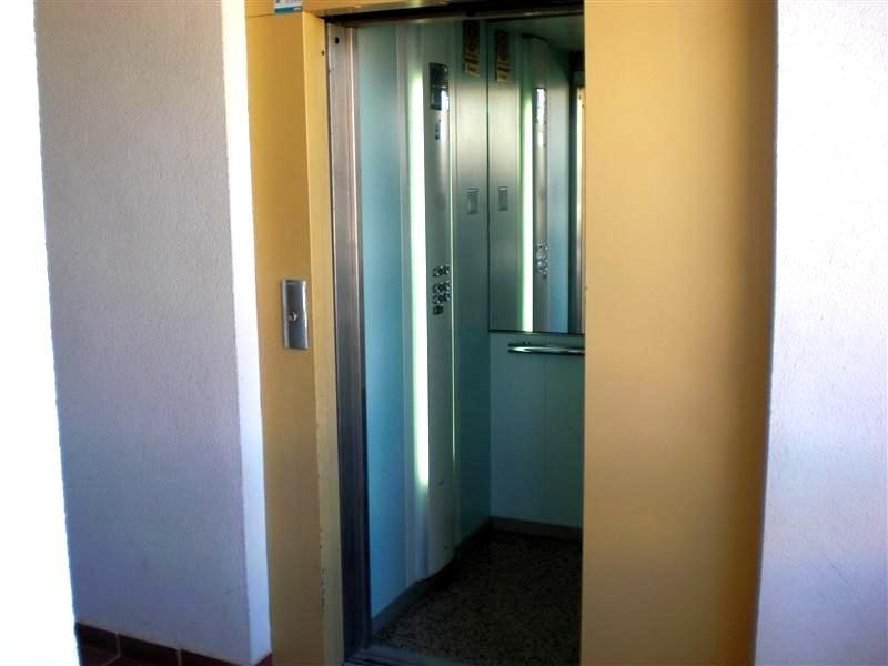 The lift is only metres away from the front door!