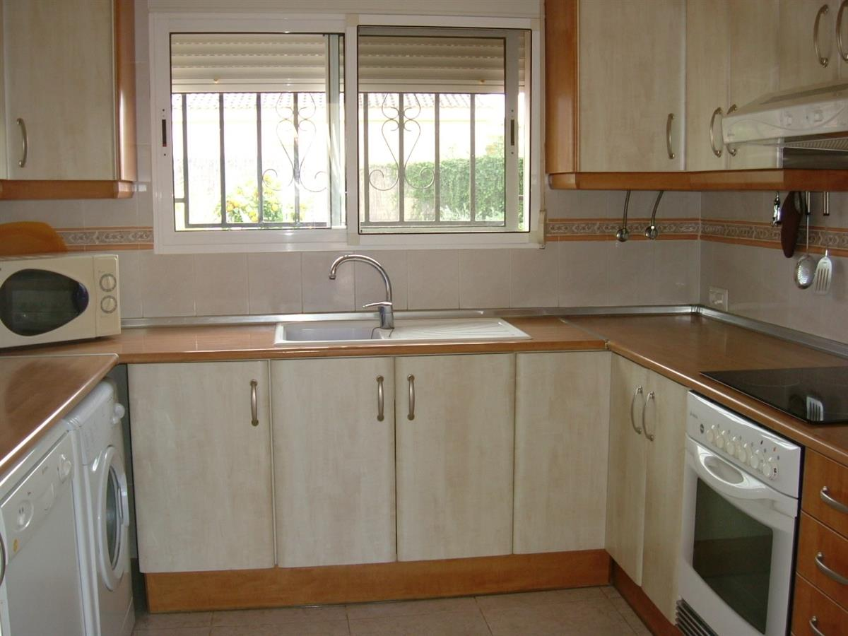 fully fitted kitchen in large villa