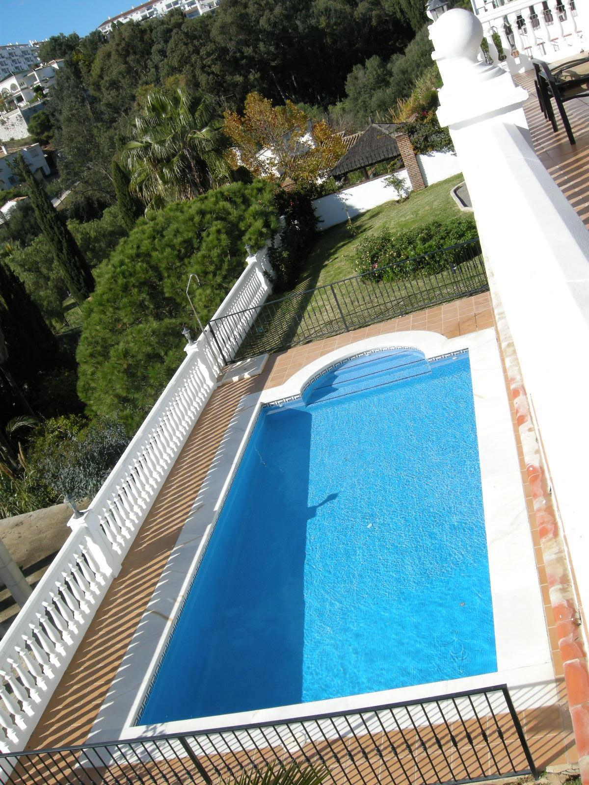 aerial view of pool from upper terrace