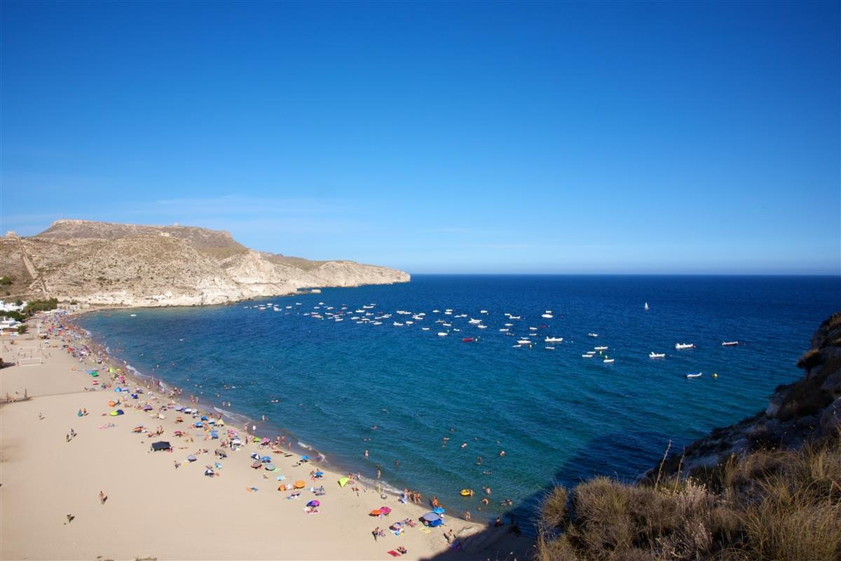... and sandy beaches, like this one at Agua Amarga...