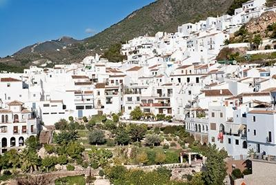 A view of the old historic and moorish quarter of Frigiliana.