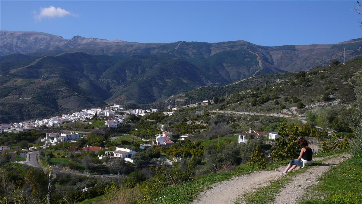 View from a short walk to the near by town of Canillas de Albaida