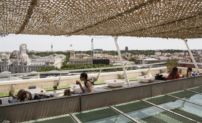 Roof terrace Bellas Artes, Madrid
