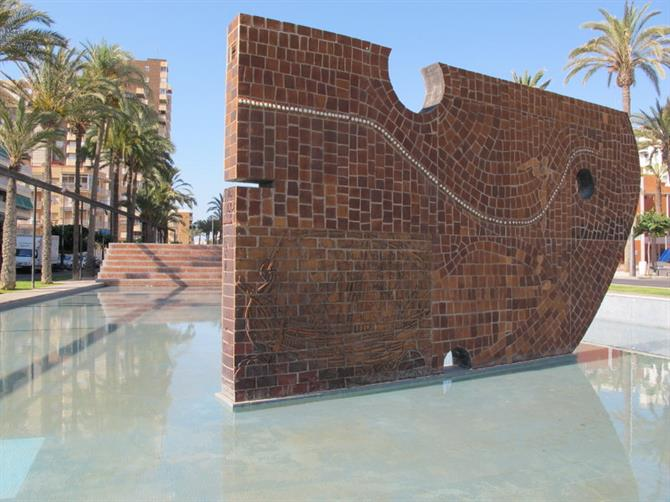The Fisherman's Monument by Arcadi Blasco, El Campello, Alicante